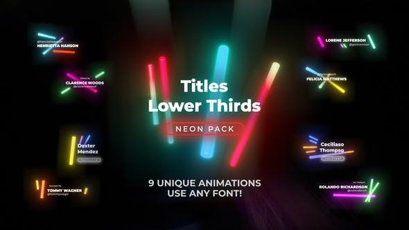 Neon Light Titles 5