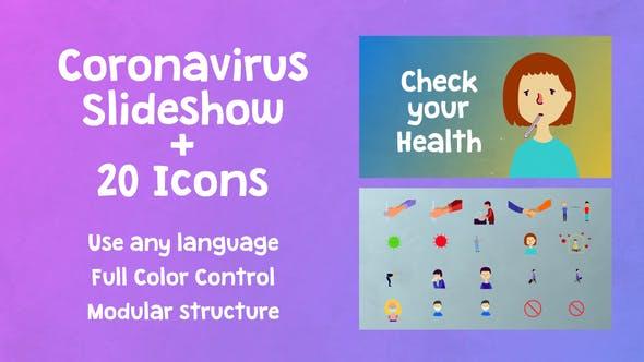 Coronavirus Slideshow | After Effects