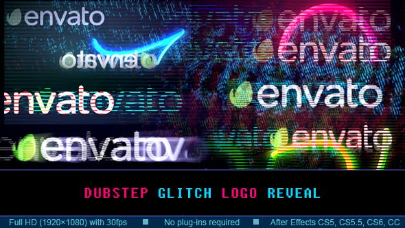 Dubstep Glitch Logo Reveal