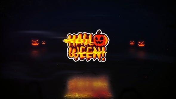 Halloween Glitch Logo
