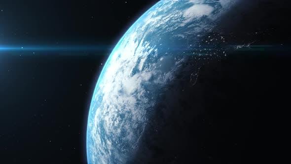 Futuristic Earth Rotation Animation 01