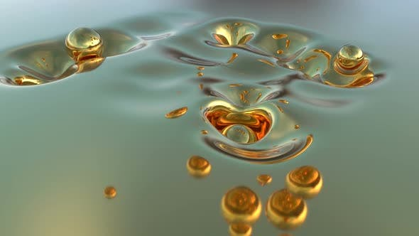 Surreal Liquid Gold Motion Graphics