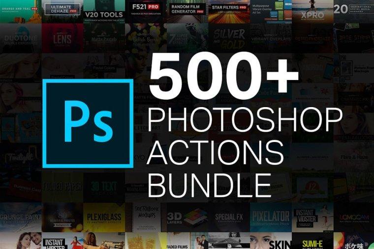 500+ Photoshop Action Bundle Vol 1