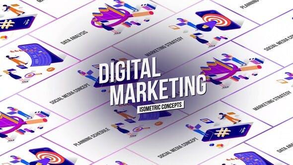 Marketing – Isometric Concept