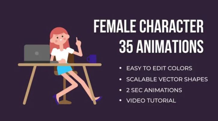 Animated Female Character