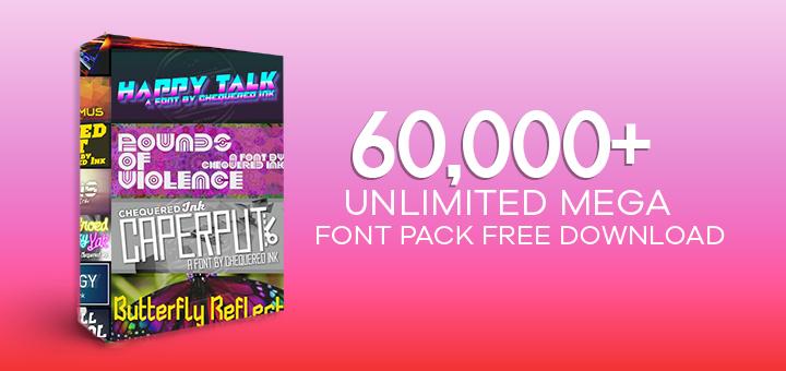Download 60000+ Unlimited Mega Font Pack Free Download - Free ...