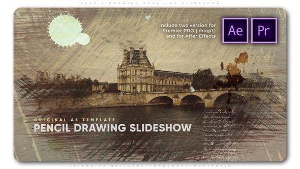 Pencil Drawing Parallax Slideshow