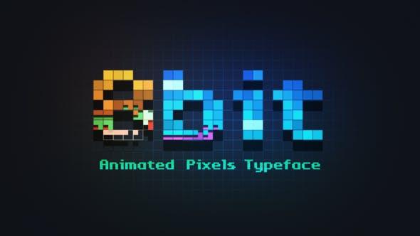 8bit – Animated Pixels Typeface
