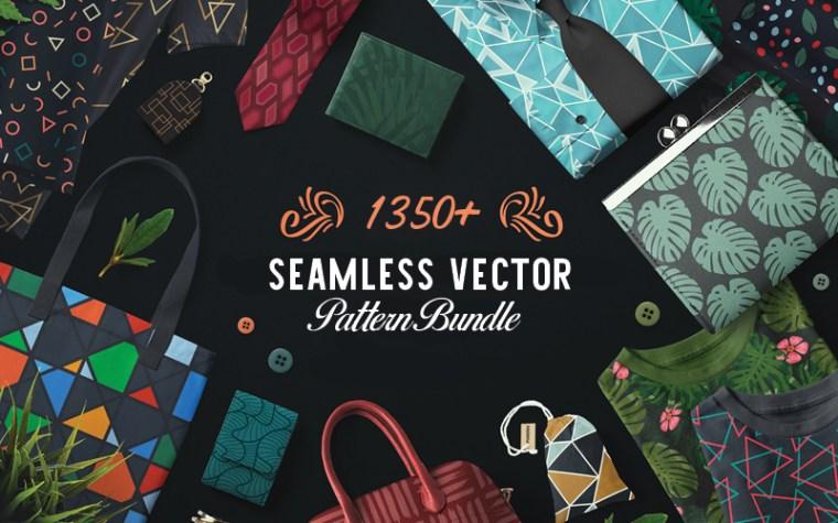 1350+ Seamless Vector Patterns Bundle