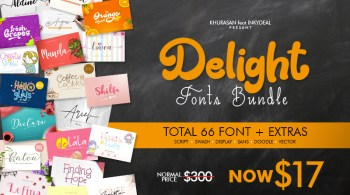 The Delight Fonts Bundle
