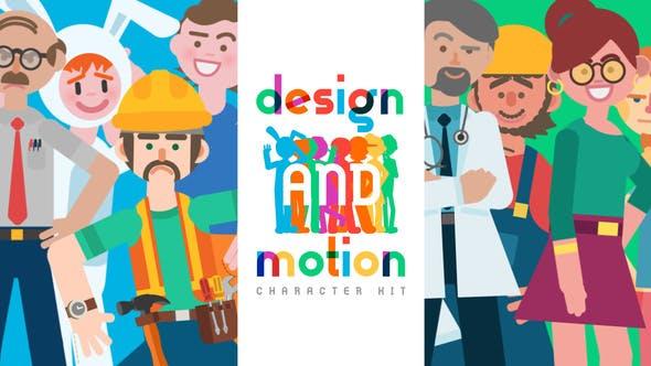 Design and Motion Character Kit V2