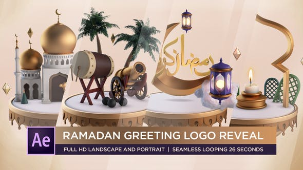 Ramadan Greeting Logo Reveal