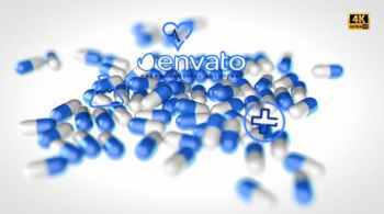 Medical Pills Background Projection