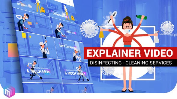 Explainer Video | Disinfection, Cleaning services