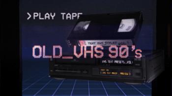 VHS Glitch Titles Presets