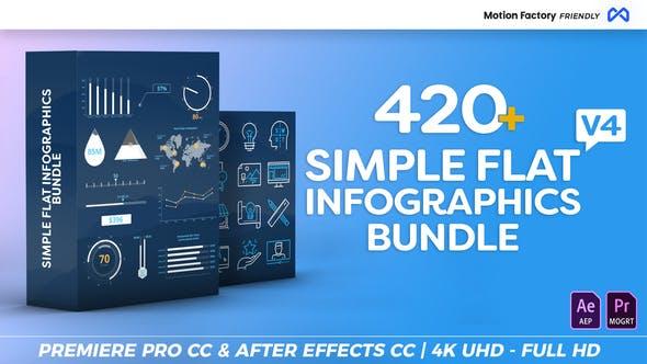 Simple Flat Infographics Bundle