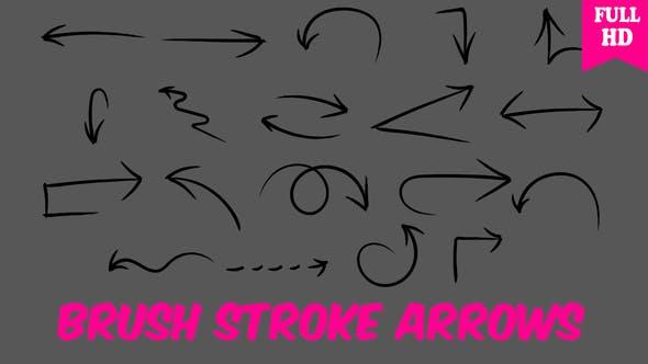 Brush Stroke Arrows