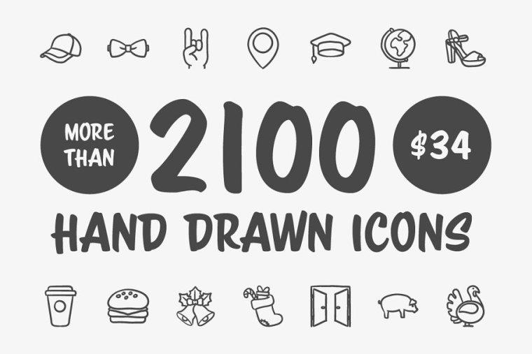 Hand Drawn Vector Doodle Icon Set