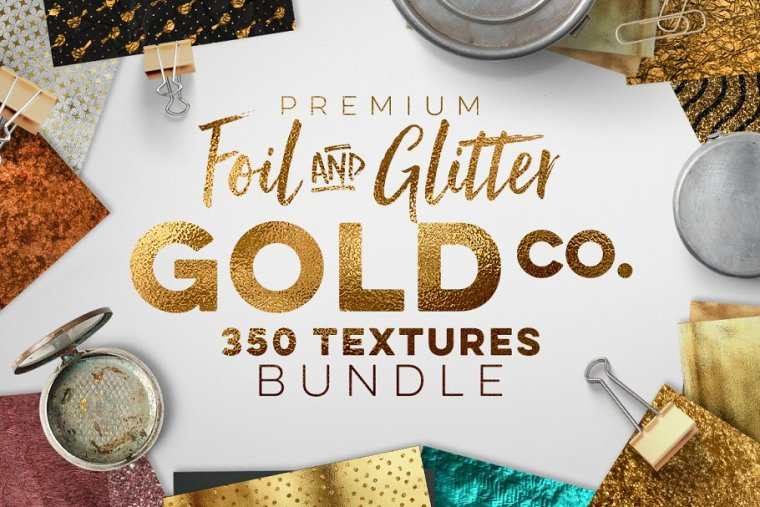 CreativeMarket 350 Gold & Metallic Textures 1227910