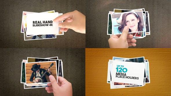 Real Hand Slideshow 4K