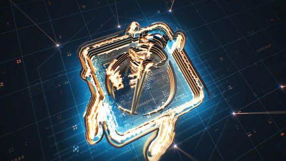 Tech Neon Logo