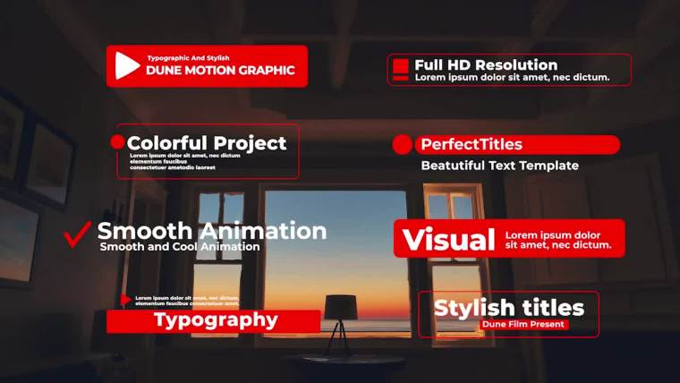 Typographic And Stylish Titles for After Effects