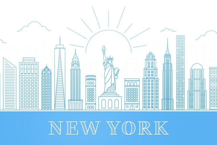 CreativeMarket New York City – Skyline