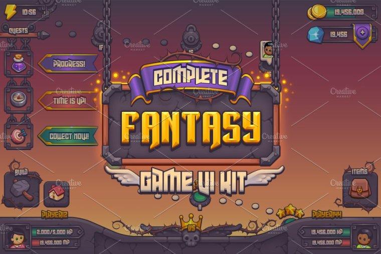 CreativeMarket Complete Fantasy Game UI kit