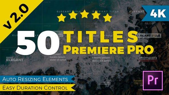 Titles Premiere Pro V2.0
