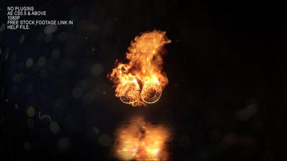 Realistic Fire Logo 3