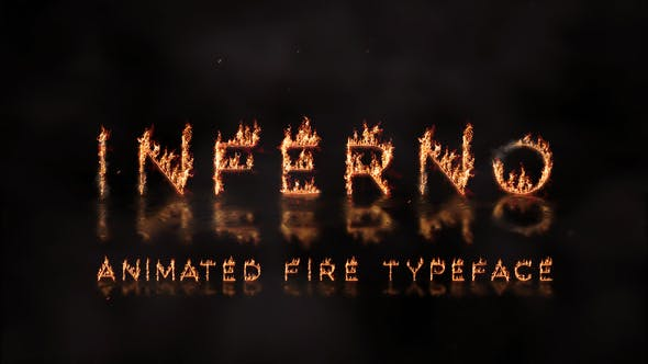 Inferno - Animated Fire Typeface