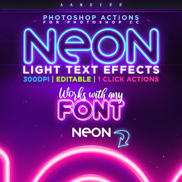 Graphicriver Neon Light Text Effect