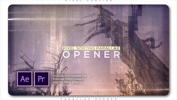 Pixel Sorting Parallax Opener