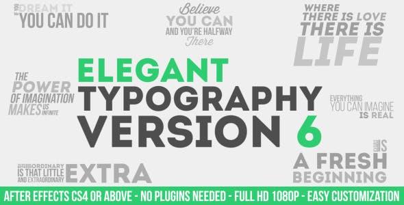 Elegant Typography V6