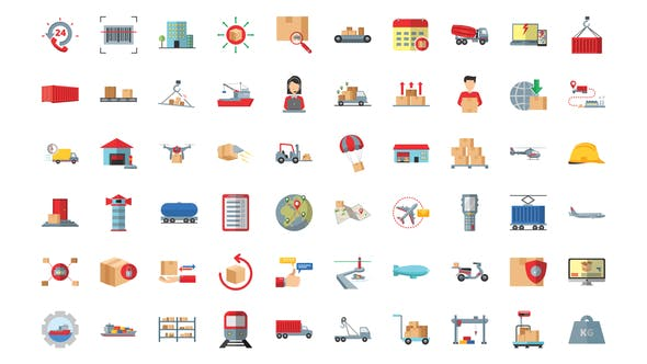 100 Management & Logistics Icons