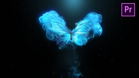 Flying Butterfly Logo Reveal 4k- Premiere Pro