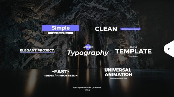 Simple and Minimal Titles Pack