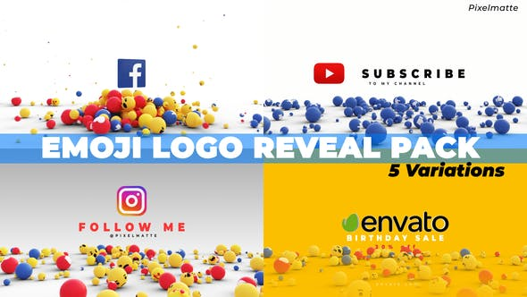 Emoji Logo Reveal Pack
