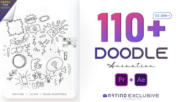 110 Animated Doodles Pack