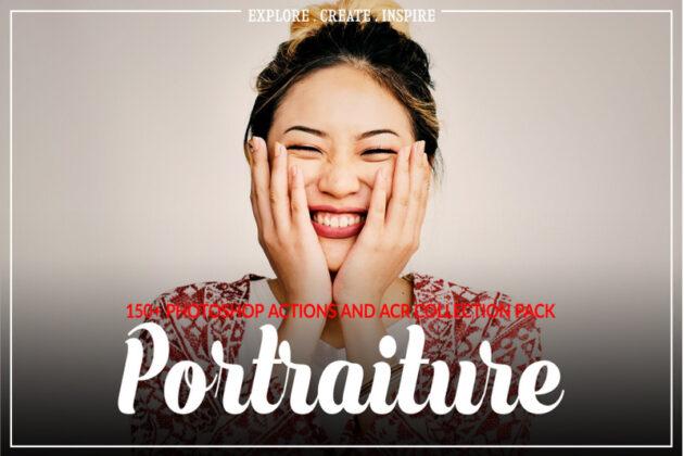 300+ Portraiture Photoshop Actions & ACR