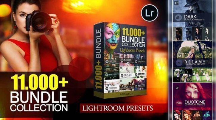 11,000+ Advanced Lightroom Presets Collection