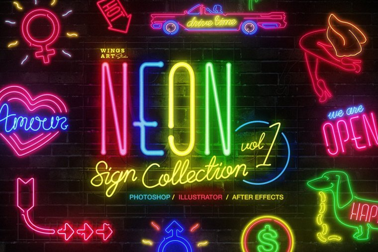 CreativeMarket Neon Sign Collection: Volume One 4718662