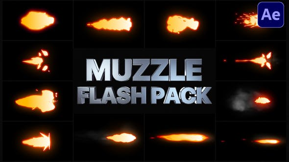Muzzle Flash Pack | After Effects