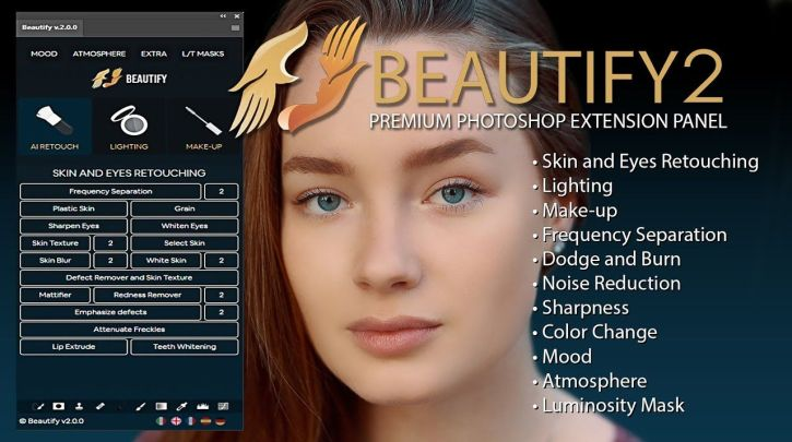 Beautify v2 – Premium Retouch Panel for Photoshop