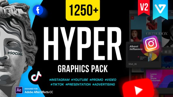 Videohive EasyEdit Hyper - Graphics Pack V2 24835354