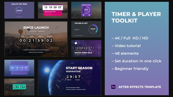 Videohive Timer & Player Toolkit 29348295