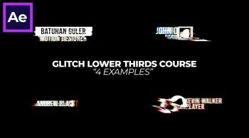 Glitch Text Animations in After Effects By Batuhan Guler