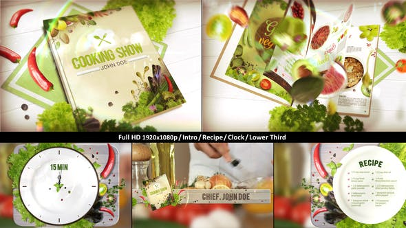 Videohive Cooking TV Show Pack | Journal 22751769