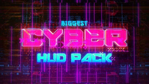 Videohive Biggest CYBER HUD Pack 30635723