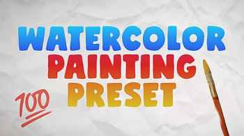 Watercolor Painting Preset 28737316